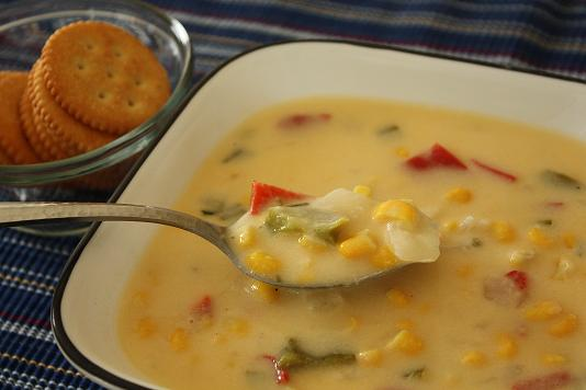 Cheese and corn soup