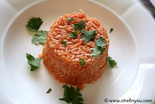 Rice with lemon and tomato