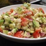 Салса с авокадо и сыром фета