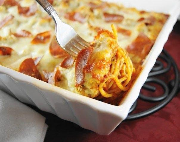 Пицца спагетти