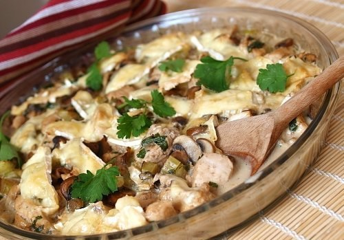 Chicken fillet with mushroom and cream