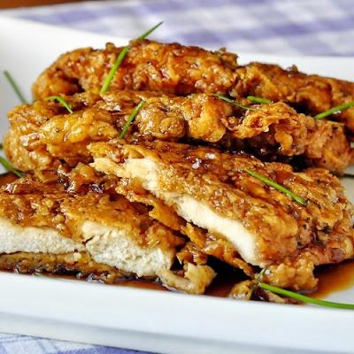 Куриное филе с соусом меда