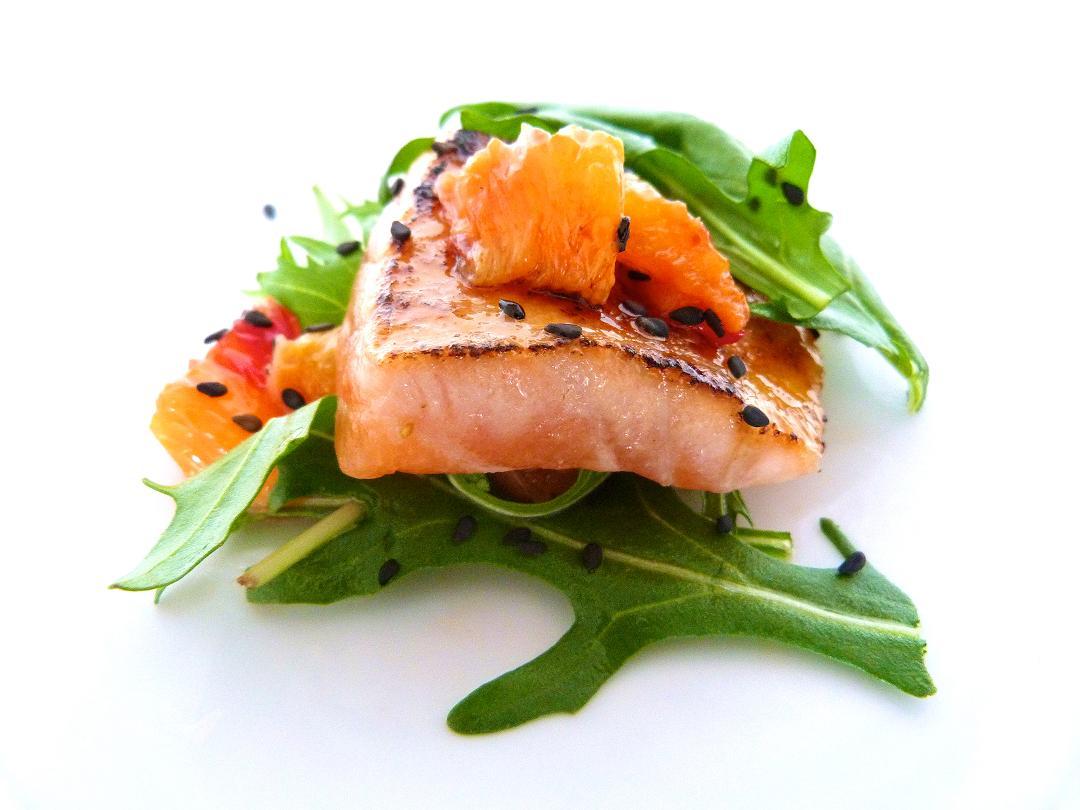 Fish with orange and cumin