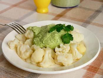 Диетический рецепт цветной капусты с чесноком