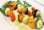 Диетический шашлык из овощей в духовке или на гриле