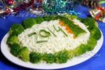 Салат с куриным филе и брокколи к Новому году