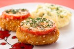 Turkey cutlets with  dried tomato and cheese