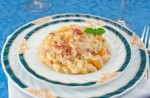 Risotto with bacon and Bulgarian pepper