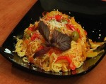 Vegetable with macaroni