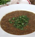 Chicken soup with lentil