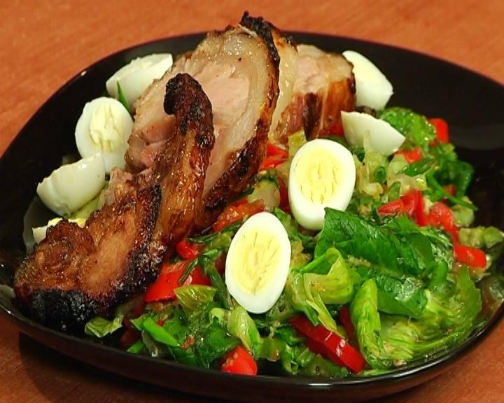 Կոճապղպեղի սոուսով խոզի միս