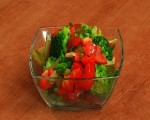 Salad with broccoli and red pepper
