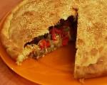 Pie with eggplant