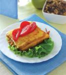 Тосты с сыром и овощами