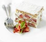 Strawberry and white chocolate cake