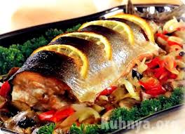 Enfold fish with vegetable